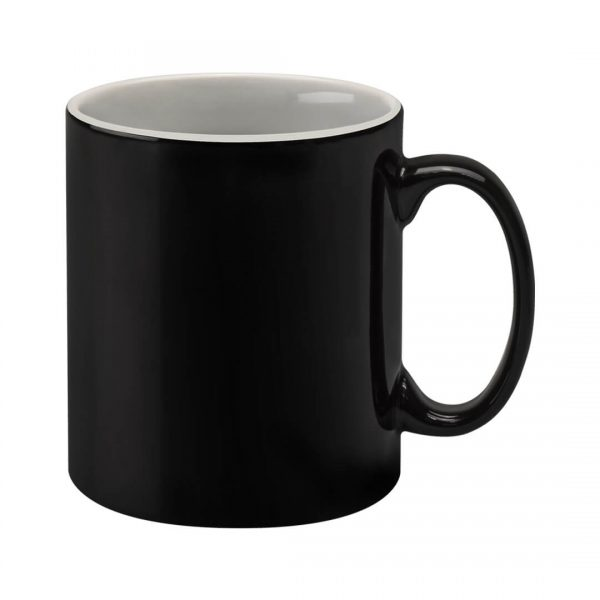 Black and White Duo Promotional Cambridge Mug - Totally Branded