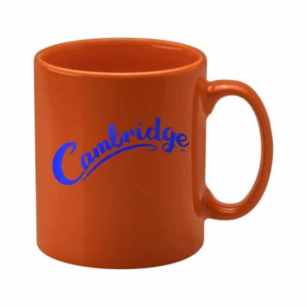 Promotional Cambridge Mugs in Orange - Totally Branded