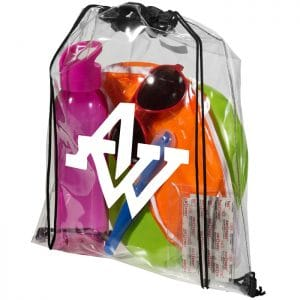 Lancaster Clear Drawstring Bag - Totally Branded