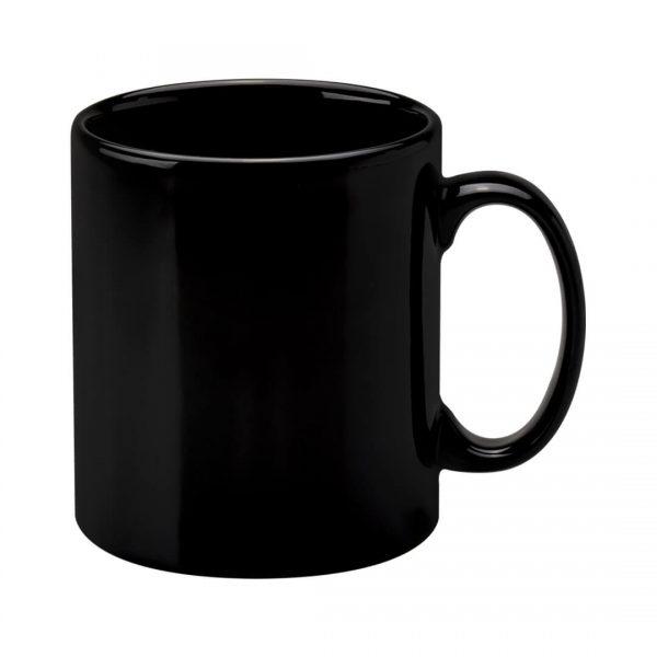 Custom branded black Cambridge mug printer