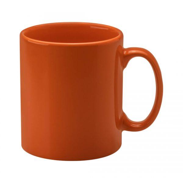 Personalised Orange Cambridge Mugs