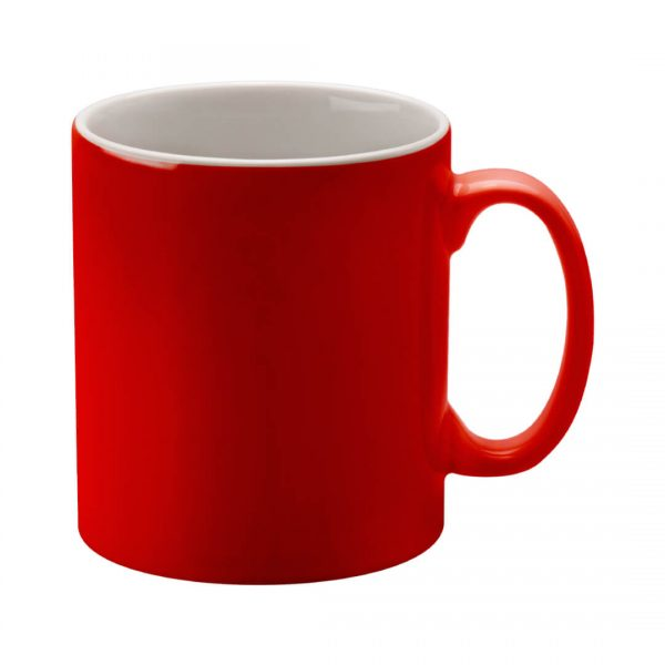 Red Cambridge Mug Printed with Logo - Totally Branded