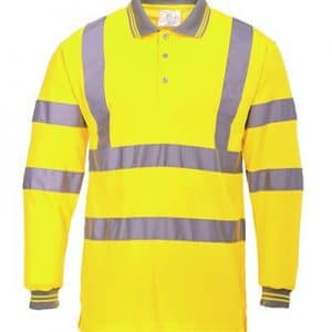 Branded Hi Vis Long Sleeve Portwest Polo Shirts