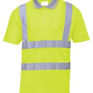Branded Portwest Hi Vis Polo Shirt