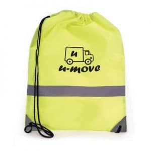 Promotional Reflective Drawstring Backpack - Totally Branded
