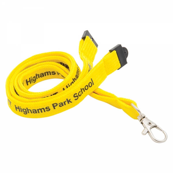 Branded Yellow Tubular Lanyards