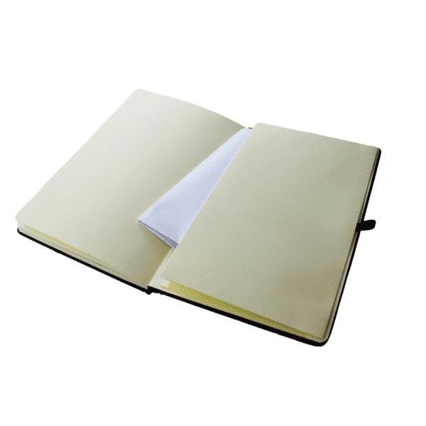 Expandable Back Pocket inside A5 Mole Notebooks