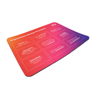 Full Colour Printed Fabric Mouse Mat