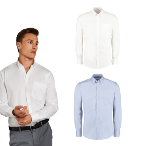 Slim fit non-iron Oxford twill shirt long-sleeved