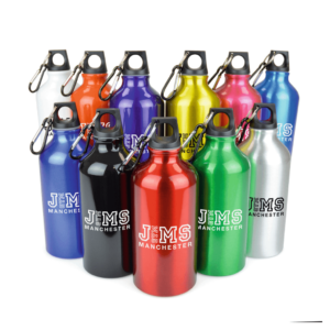 Pollock Metal Drinks Bottle with Carabiner - Totally Branded