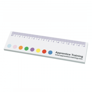 Printed Ruler Shaped Sticky Notes