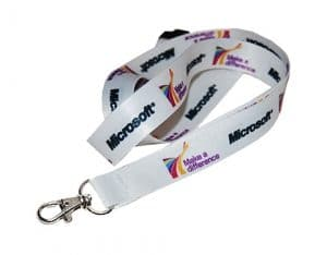 Branded 10mm Dye Sublimation Staff lanyards