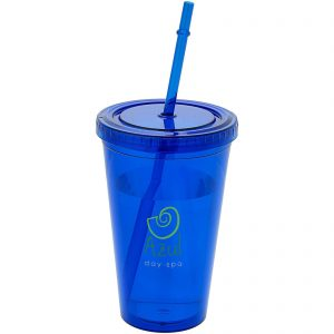 Promotional Cyclone 450 ml insulated tumbler with straw - Totally Branded