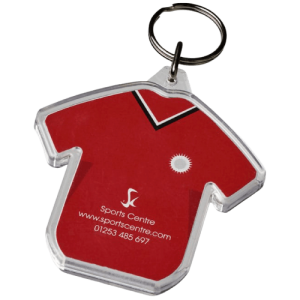 Promotional T-Shirt Shaped Keyring - Totally Branded