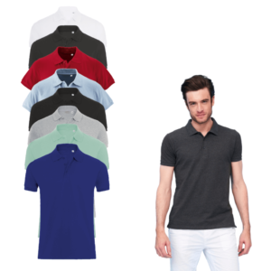 Sols Mens Slim Fit Phoenix Pique Polo Shirt