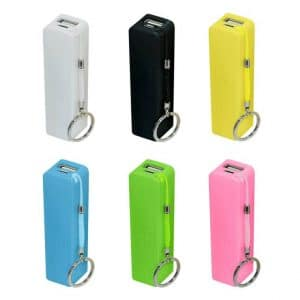 Branded Power Banks available in a range of promotional colours.