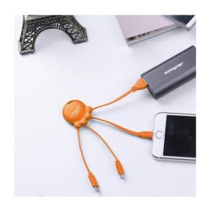 Xoopar Octopus Multi Charger Orange - Totally Branded