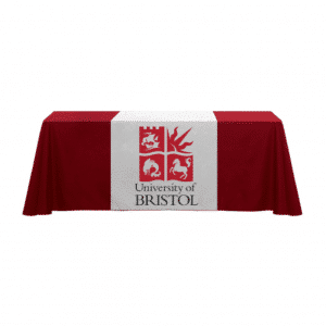 branded-table-runner-with-cloth
