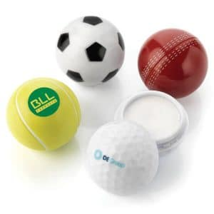 Branded Sports Ball Shaped Lip Balm - Totally Branded