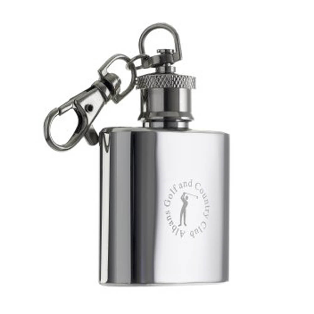 1oz Hip Flask Personalised Keyring Photo or Text Engraved Valentine/'s day