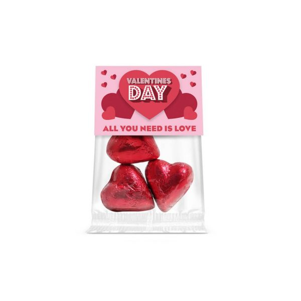 Branded Eco-Friendly Chocolate Hearts - Totally Branded