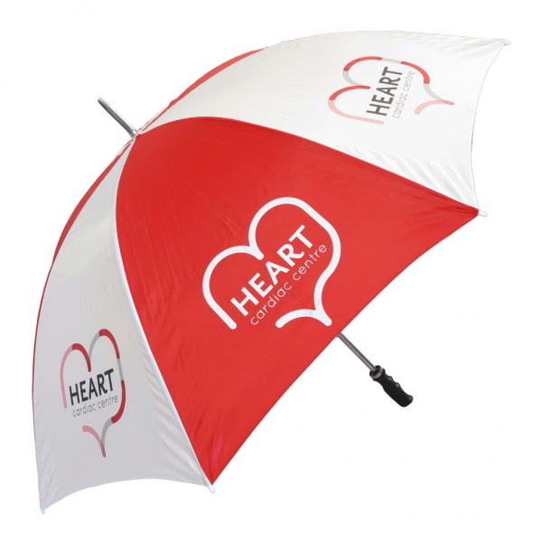 Budget Golf Red Umbrella - Totally Branded