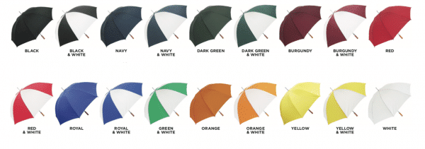Budget Golf Umbrella Colours Available