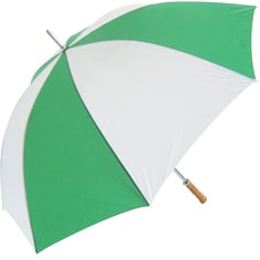 Green and White Promotional Umbrella Personalised - TotallyBranded.co.uk