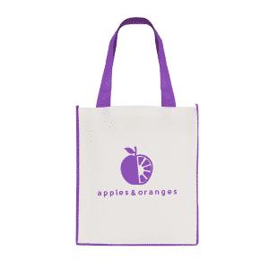 Printed Purple Contrast Shopper Bag