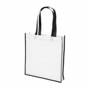 Branded Contrast Shopper Bag