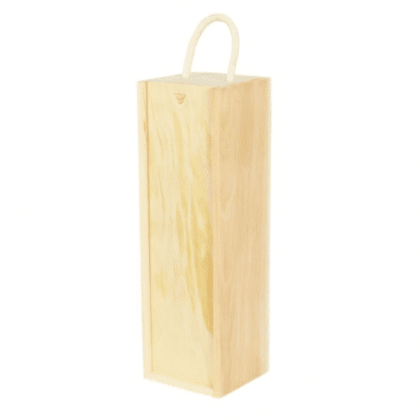 Branded Wooden Wine Bottle Box with Handle