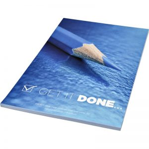 Desk-Mate® A5 notepad wrap over cover - totally branded