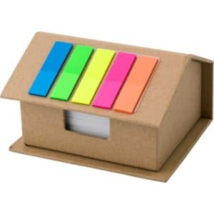 House Shaped Promotional Desk Notes Holder - Totally Branded