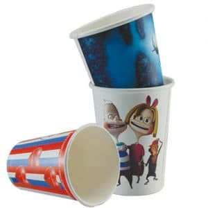 Full Colour Printed Double Walled Paper Cups Promotional