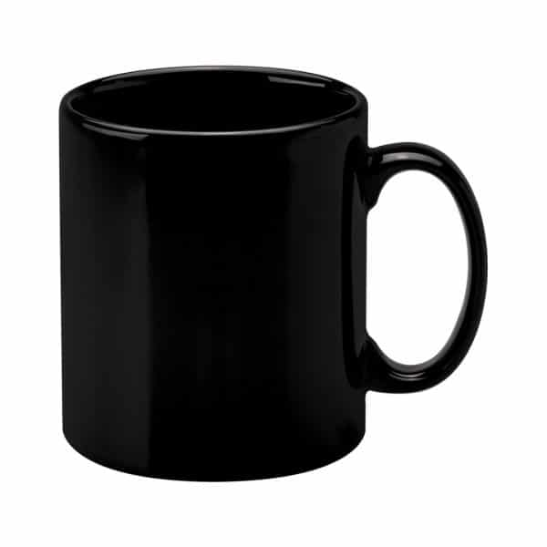 Black Cambridge Printed Mugs - Totally Branded