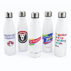 Matte White Insulated Vacuum Bottle - Totally Branded
