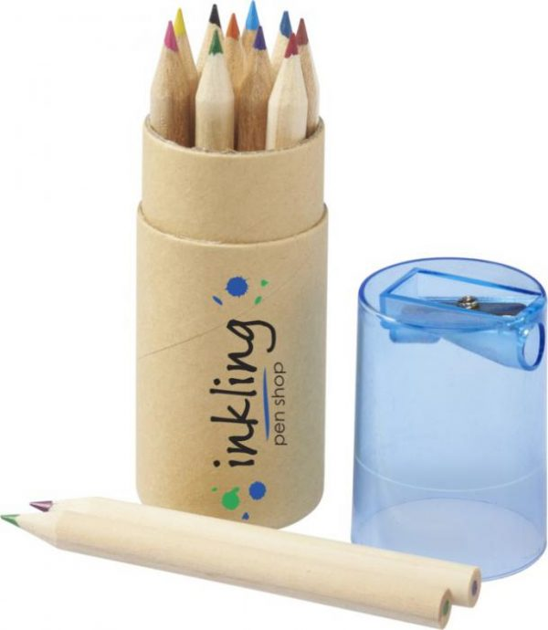 Promotional Hef 12-piece coloured pencil set with sharpener - Totally Branded
