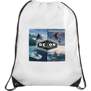 Printed Nylon Drawstring Bags - Totally Branded