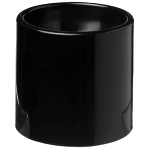 Edie Plastic Egg Cup Black - Totally Branded