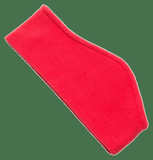 Fleece Ear Warmers Red - Totally Branded