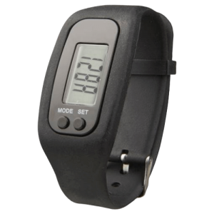 Get Fit Pedometer Smartwatch Black - Totally Branded
