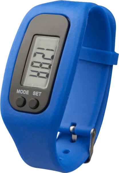 Get Fit Pedometer Step Counter Smartwatch Blue - Totally Branded