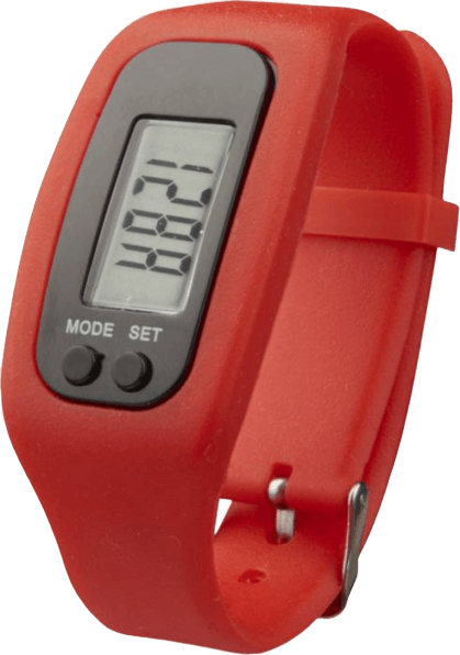 Get Fit Pedometer Step Counter Smartwatch Red - Totally Branded
