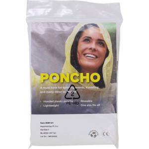 Recycled and Bio-degradable Poncho - Totally Branded