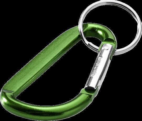 Timor Carabiner Keychain Green - Totally Branded