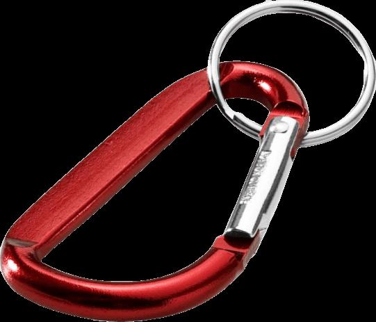 Timor Carabiner Keychain Red - Totally Branded