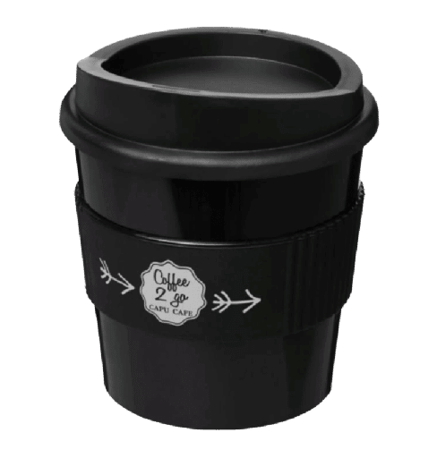 Americano® primo 250 ml tumbler with grip Black - Totally Branded