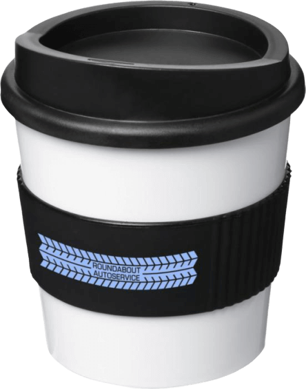 Americano® Primo 250ml Tumbler with Grip B/W - Totally Branded