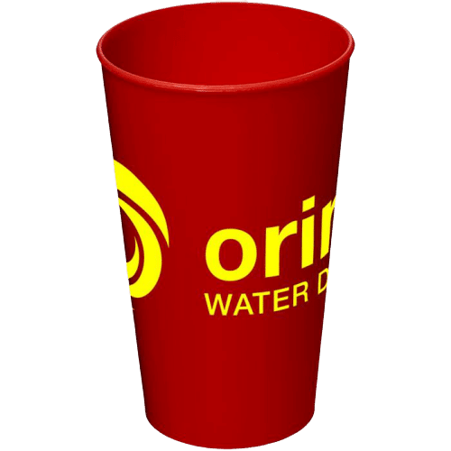 Arena Plastic Tumbler Red - Totally Branded
