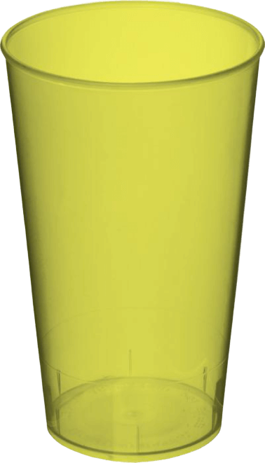 Arena Plastic Tumbler Transparent Lime Green - Totally Branded